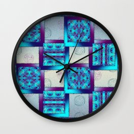 Batik Blues Quilt Wall Clock