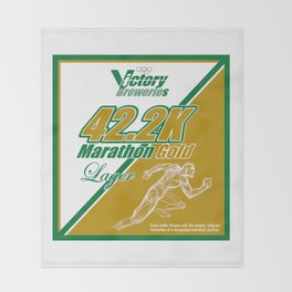 42.2K Marathon Gold Lager Throw Blanket