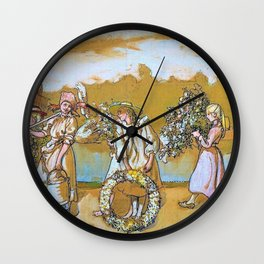 Outdoors Blows The Summer Wind - Carl Larsson Wall Clock