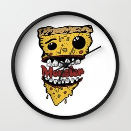 Pizza Monster Wall Clock
