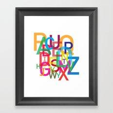 AMAZING ALPHABET Framed Art Print