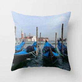 Gondola in  Venice Italy Throw Pillow