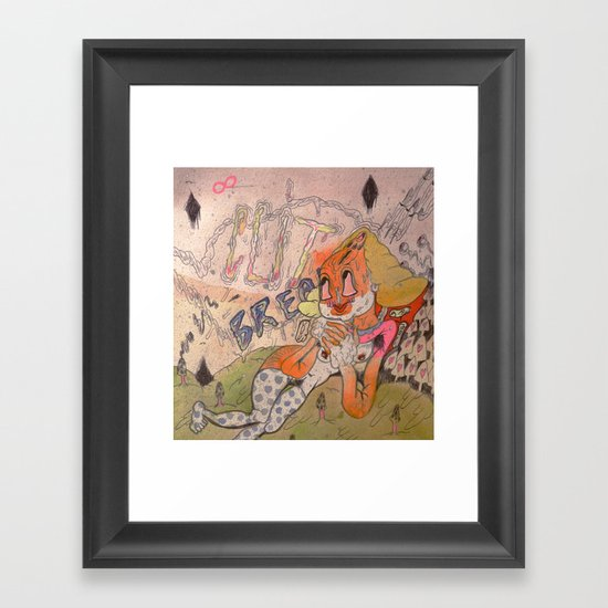 lets take a break! Framed Art Print