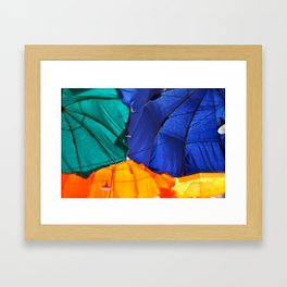 Cafe Umbrellas Framed Art Print