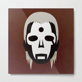 Hidan Simplistic Face Metal Print
