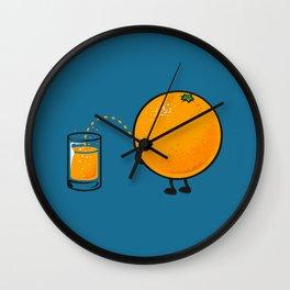 Orange Juice Wall Clock