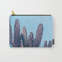 Cactus Photography Print {2 of 3} | Cool Blue Succulent Plant Nature Western Desert Design Decor Carry-All Pouch