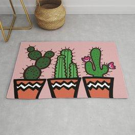 Cute Cacti In Pink Rug