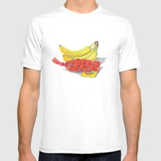Fresh Produce White MEDIUM Mens Fitted Tee