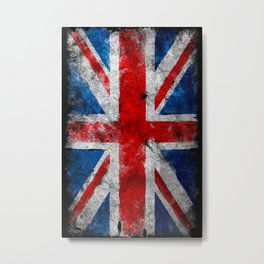 Great Britain grunge flag Metal Print