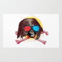 freddy krueger Area & Throw Rugs featuring Fast Ape Freddy by Marko Köppe