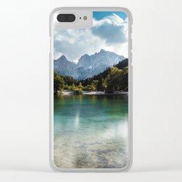 Lake Jasna in Kranjska Gora, Slovenia Clear iPhone Case