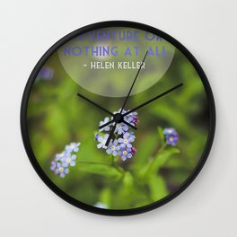 life is an adventure. Wall Clock