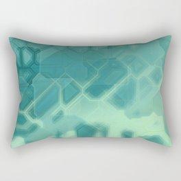 future fantasy turquoise Rectangular Pillow