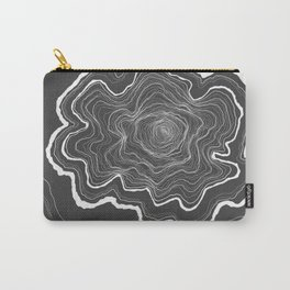 Tree Rings of Grey Carry-All Pouch