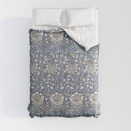 William Morris Navy Blue Botanical Pattern 7 Comforters