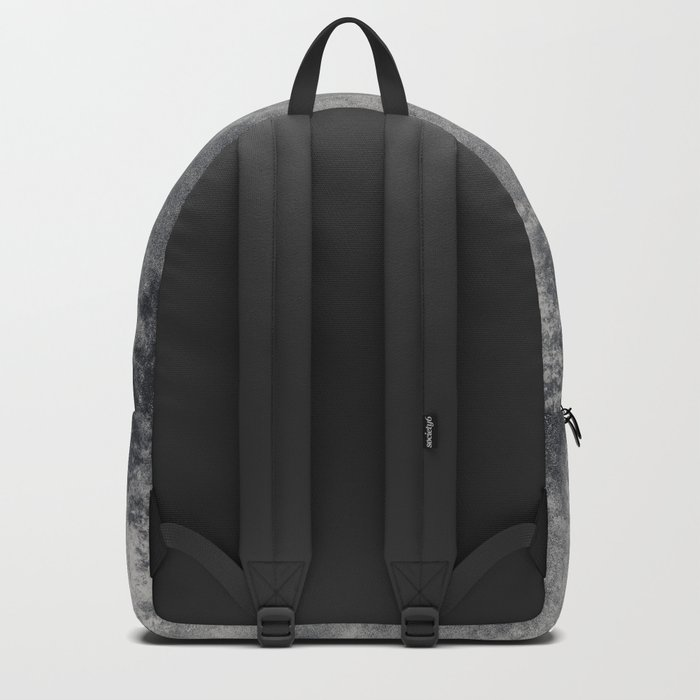 Black and White Charcoal Fog Forest Backpack