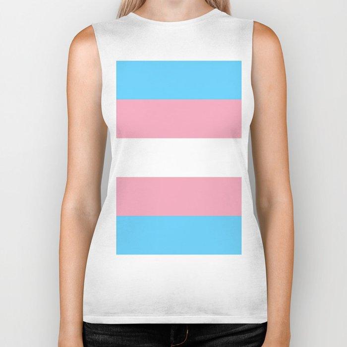 Transgender flags By Monica Helms Biker Tank