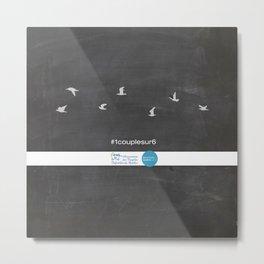 #1couplesur6 Chalkboard Metal Print