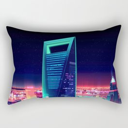 Abstract cityscapes Shanghai World Financial Center Aurora Building metropolis skyscrapers China Asi Rectangular Pillow