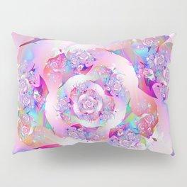 First Rose Abstract Fractal Art Pillow Sham