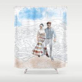 Bob and Fanny Shower Curtain