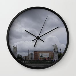 Berlin clouds Wall Clock