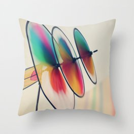 Spin, spin, spin Throw Pillow