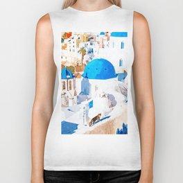 Greek Goddess #painting #illustration #cats Biker Tank