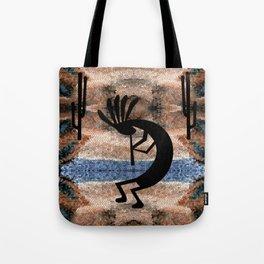 Kokopelli Southwest Desert Tote Bag