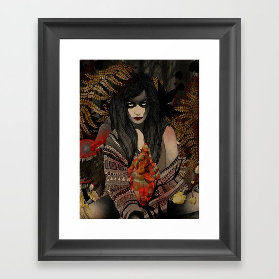 The Keepers - Red Pulse Framed Art Print