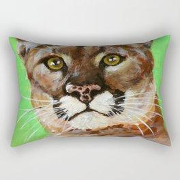 Reise Cougar Youthful Eyes Rectangular Pillow