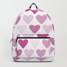 Cute heart seamless vector pattern in pink Backpack
