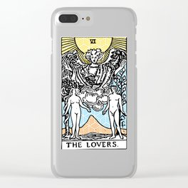 Geometric Tarot Print - The Lovers Clear iPhone Case