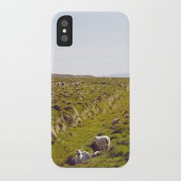 Sheeps in Iceland iPhone Case