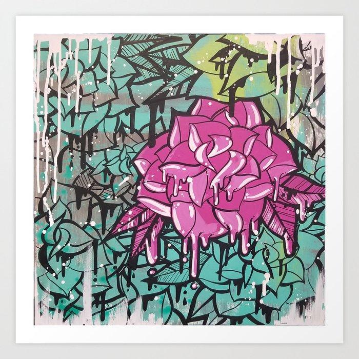Drip Drop Graffiti Art Print