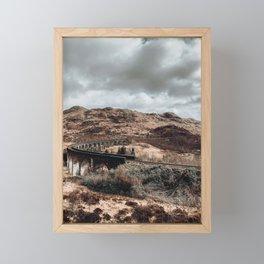 Glenfinnan Viaduct in Scotland, famous filming location Framed Mini Art Print