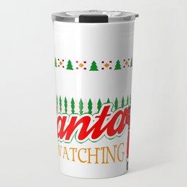 Christmas Mechanic Santa Says Be Nice to the Mechanic Travel Mug