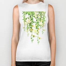 Watercolor Ivy Biker Tank