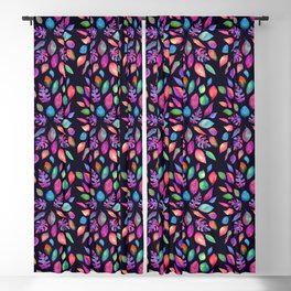 All the Colors of Nature - Ultra on Dark Background Blackout Curtain