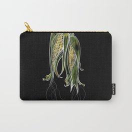 Botanical on Black Background Sweet Corn Harvest Carry-All Pouch