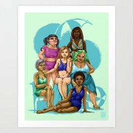 Every Body is a Beach Body Art Print
