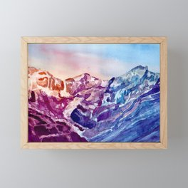 Colorful Watercolor Mountains #1 Framed Mini Art Print