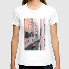 Venice Gondola Rides in Pink T-shirt
