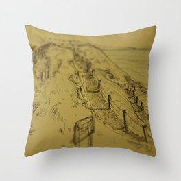 Beacons Sketch Throw Pillow