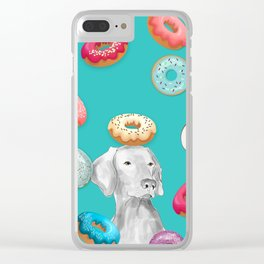 DOG AND DOUGHNUTS Clear iPhone Case