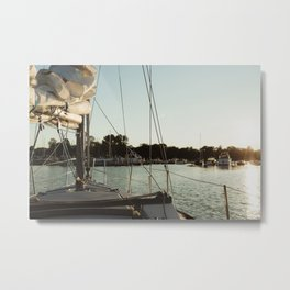 Sailing into Harbor Metal Print