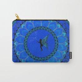 Fairy Garden Blue Carry-All Pouch