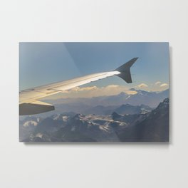 Chilean Andes Mountain Aerial View Metal Print