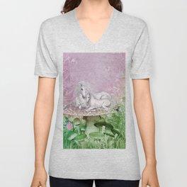 Wonderful unicorn with foal Unisex V-Neck